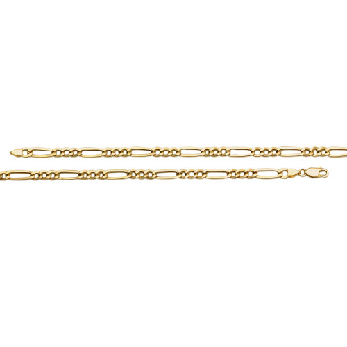 Corrente em Ouro 18k/750 Malha 3x1 Achatada 60cm