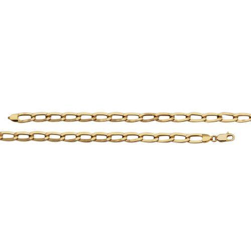 Corrente em Ouro 18k/750 Malha 0x0 Achatada 60cm Grossa