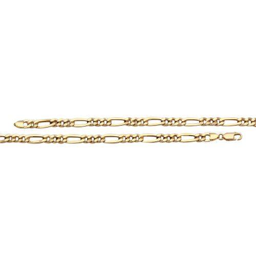 Pulseira em Ouro 18k/750 3x1 Achatada 21cm