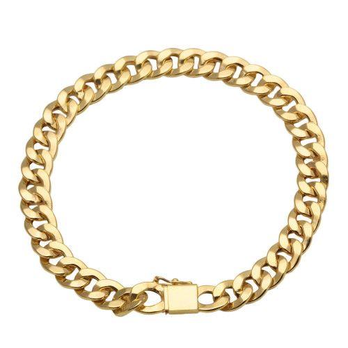 Pulseira em Ouro 18k/750 Groumet Achatada 22cm