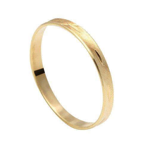 Aliança em Ouro 18k/750 Diamantada Fininha 2.6mm