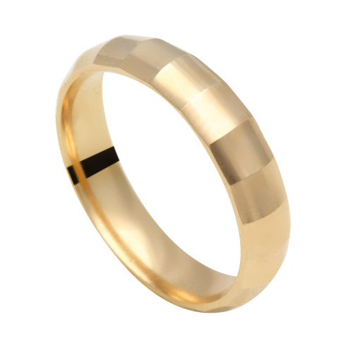 Aliança em Ouro 18k/750 Abaulada Diamantada 4.5mm