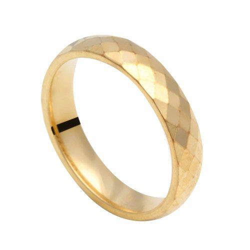 Aliança em Ouro 18k/750 Diamantado 4mm