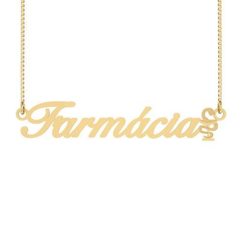 Gargantilha em Ouro 18k/750 Farmácia Símbolo