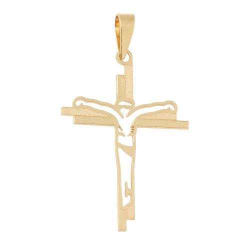 Pingente em Ouro 18k/750 Crucifixo Jesus Vazado