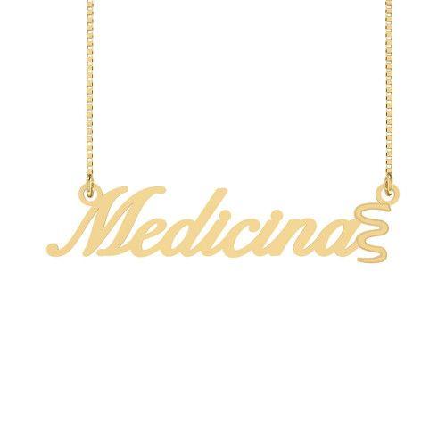 Gargantilha em Ouro 18k/750 Medicina Símbolo