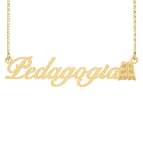 Gargantilha em Ouro 18k/750 Pedagogia Símbolo
