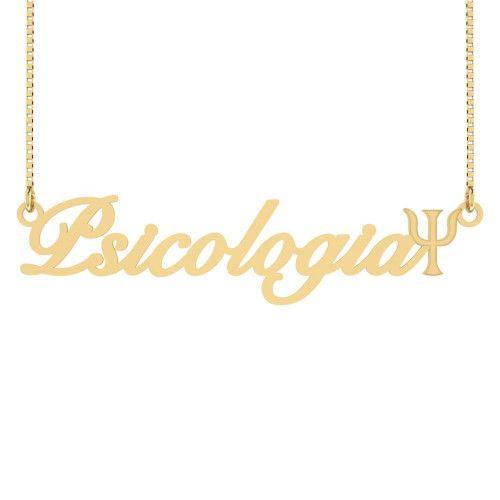 Gargantilha em Ouro 18k/750 Psicologia Símbolo