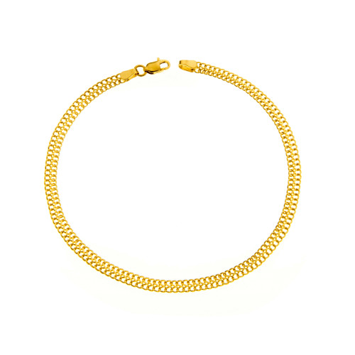 Pulseira em Ouro 18k/750 Lacraia Fina PP