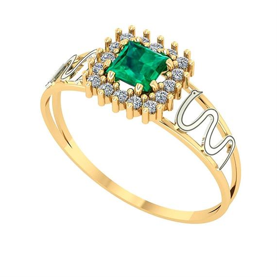 Anel Formatura - Verde ( Esmeralda )