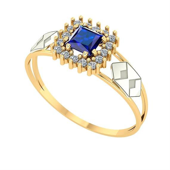 Anel Formatura - Azul ( Safira )