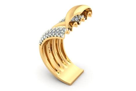 O que é anel de ouro 18k?