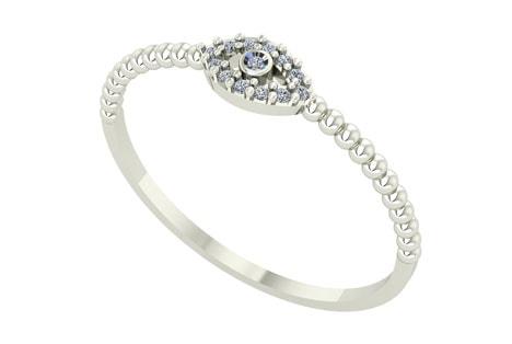 Sofisticação: anel de ouro branco