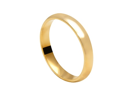 Irrecusável: aliança de casamento de ouro